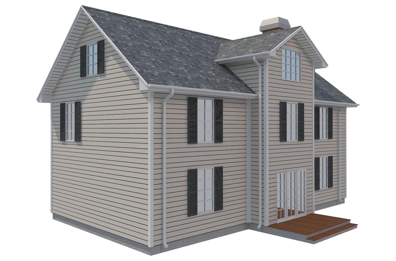 family house set collection 3d model 3ds max  fbx obj 270239