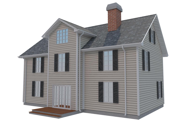 family house set collection 3d model 3ds max  fbx obj 270240