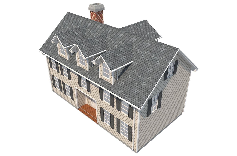 family house set collection 3d model 3ds max  fbx obj 270241