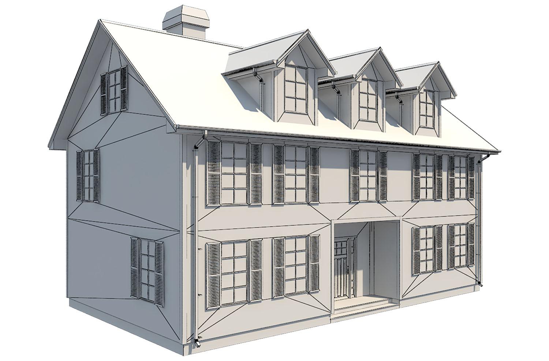 family house set collection 3d model 3ds max  fbx obj 270242