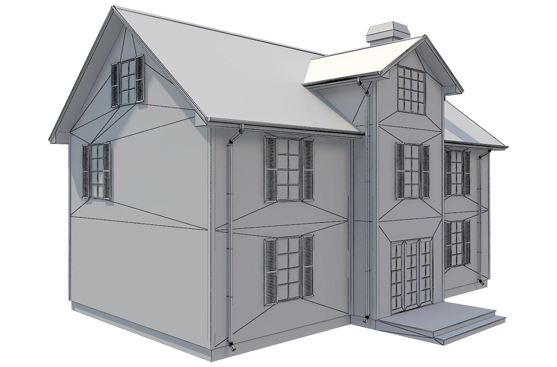 family house set collection 3d model 3ds max  fbx obj 270244
