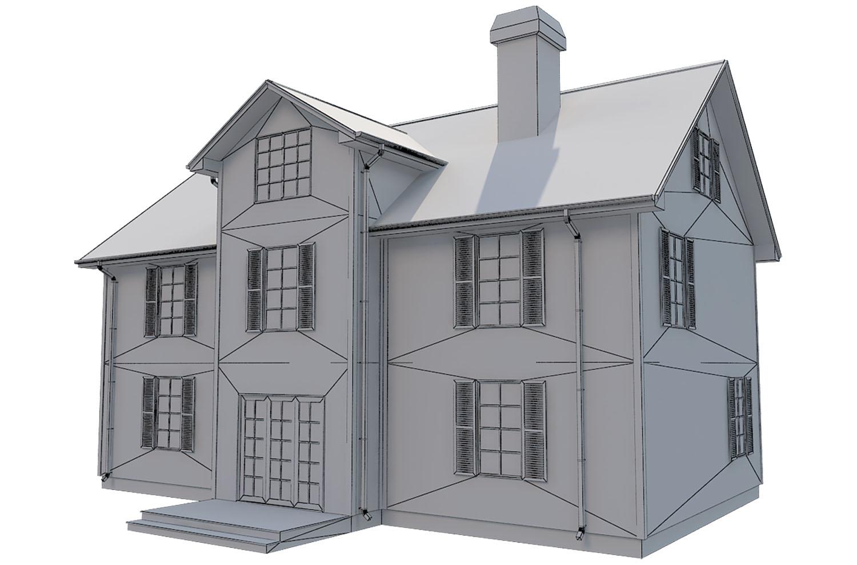 family house set collection 3d model 3ds max  fbx obj 270245
