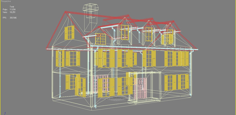 family house set collection 3d model 3ds max  fbx obj 270247