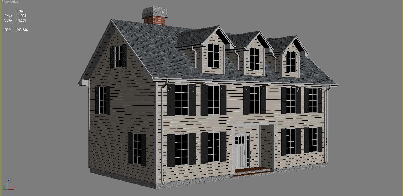 family house set collection 3d model 3ds max  fbx obj 270248