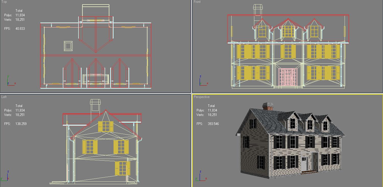 family house set collection 3d model 3ds max  fbx obj 270249