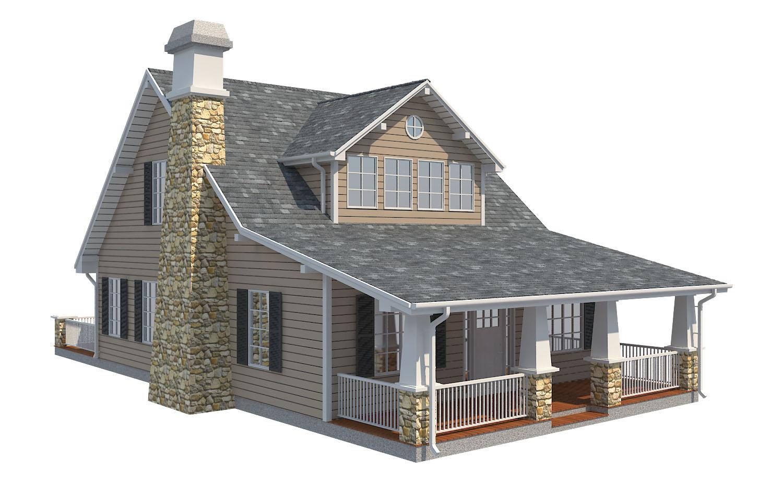 family house set collection 3d model 3ds max  fbx obj 270259
