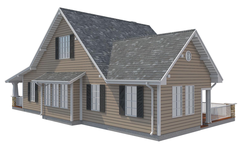 family house set collection 3d model 3ds max  fbx obj 270260