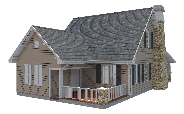 family house set collection 3d model 3ds max  fbx obj 270261