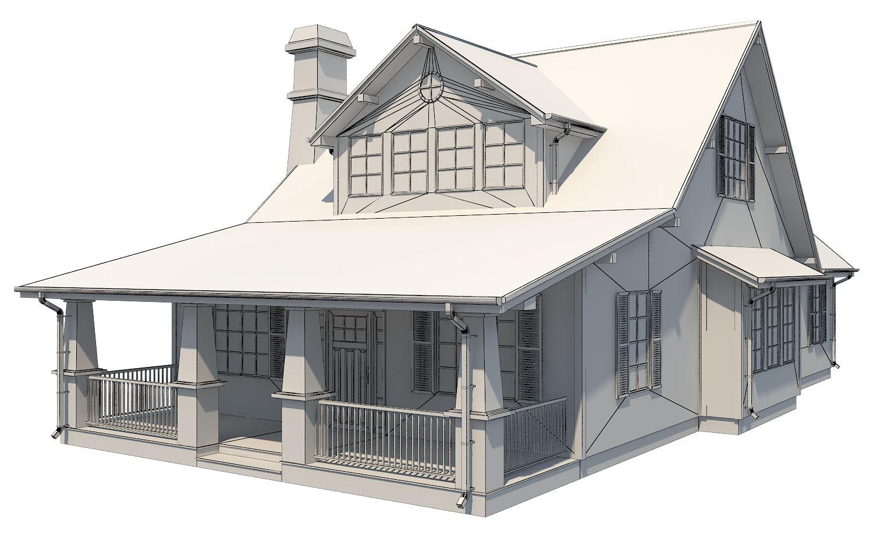 family suburban house 3d model 3ds fbx obj max ds max plugin 270264