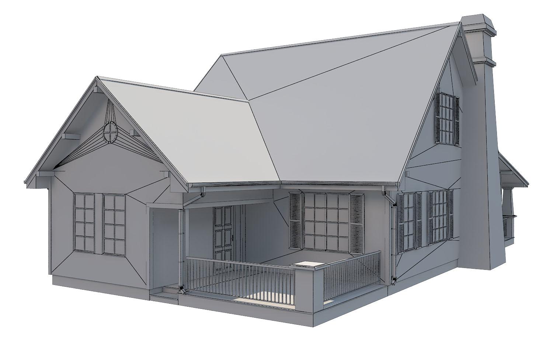 family suburban house 3d model 3ds fbx obj max ds max plugin 270266