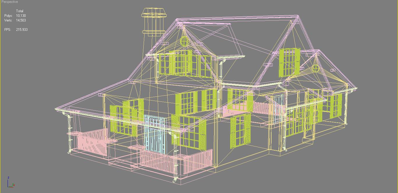 family suburban house 3d model 3ds fbx obj max ds max plugin 270268