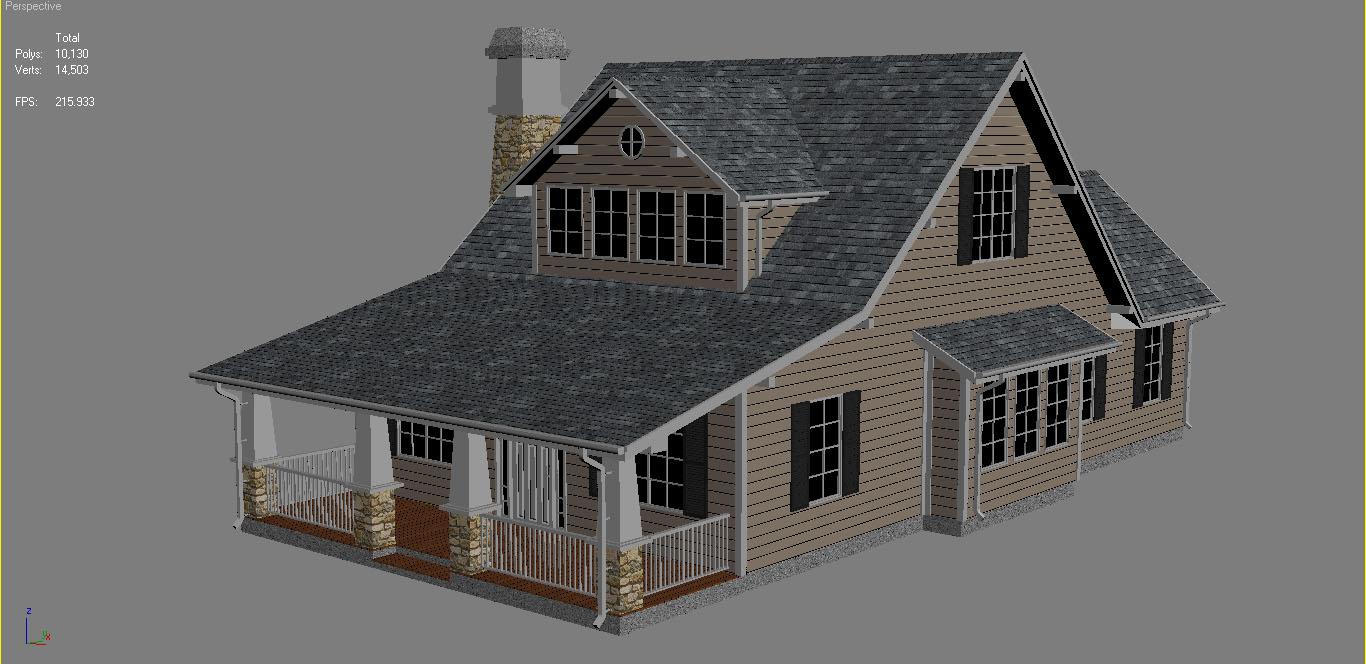 family suburban house 3d model 3ds fbx obj max ds max plugin 270269