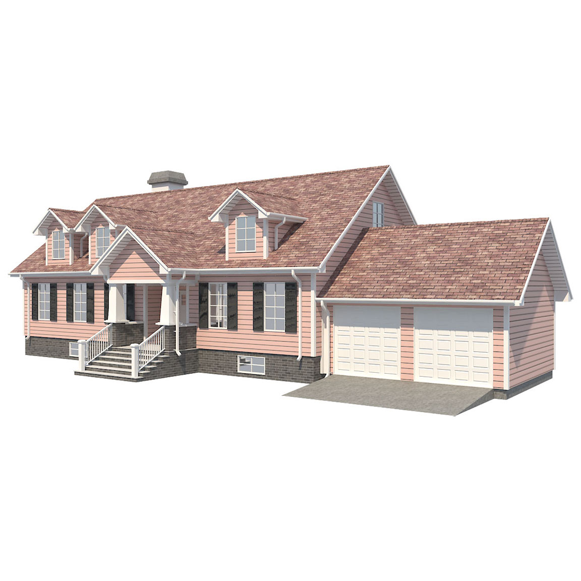 family house set collection 3d model 3ds max  fbx obj 270279