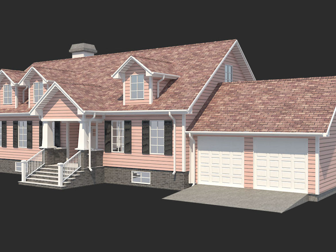 Family House Set_1 3d model low poly 3ds max 3ds max plugin fbx obj
