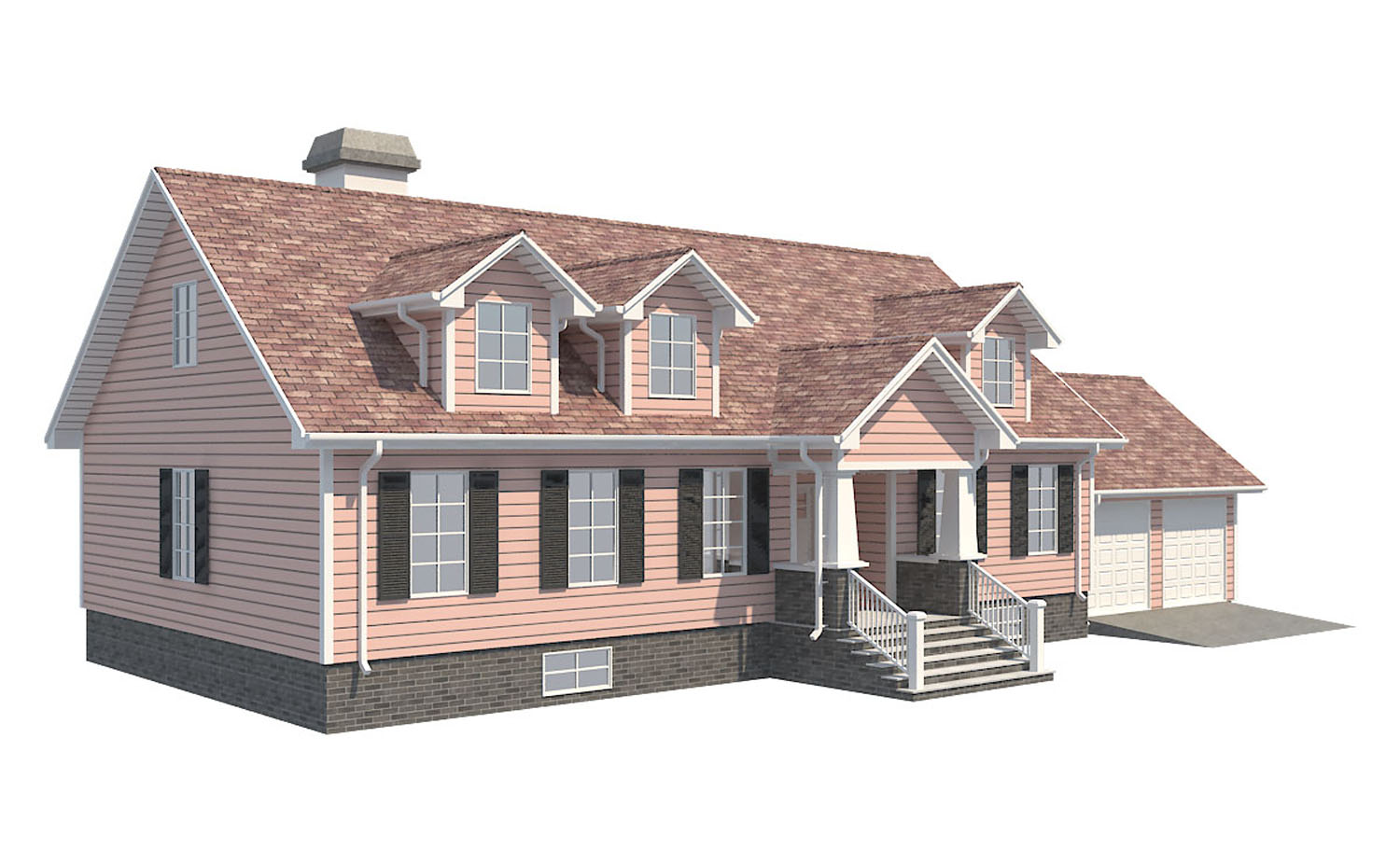 family house set collection 3d model 3ds max  fbx obj 270281