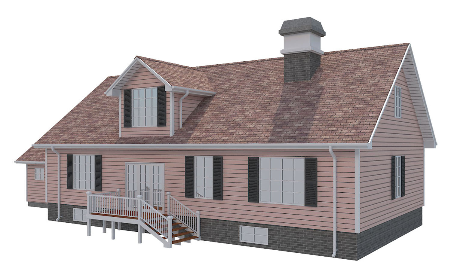 family house set collection 3d model 3ds max  fbx obj 270283