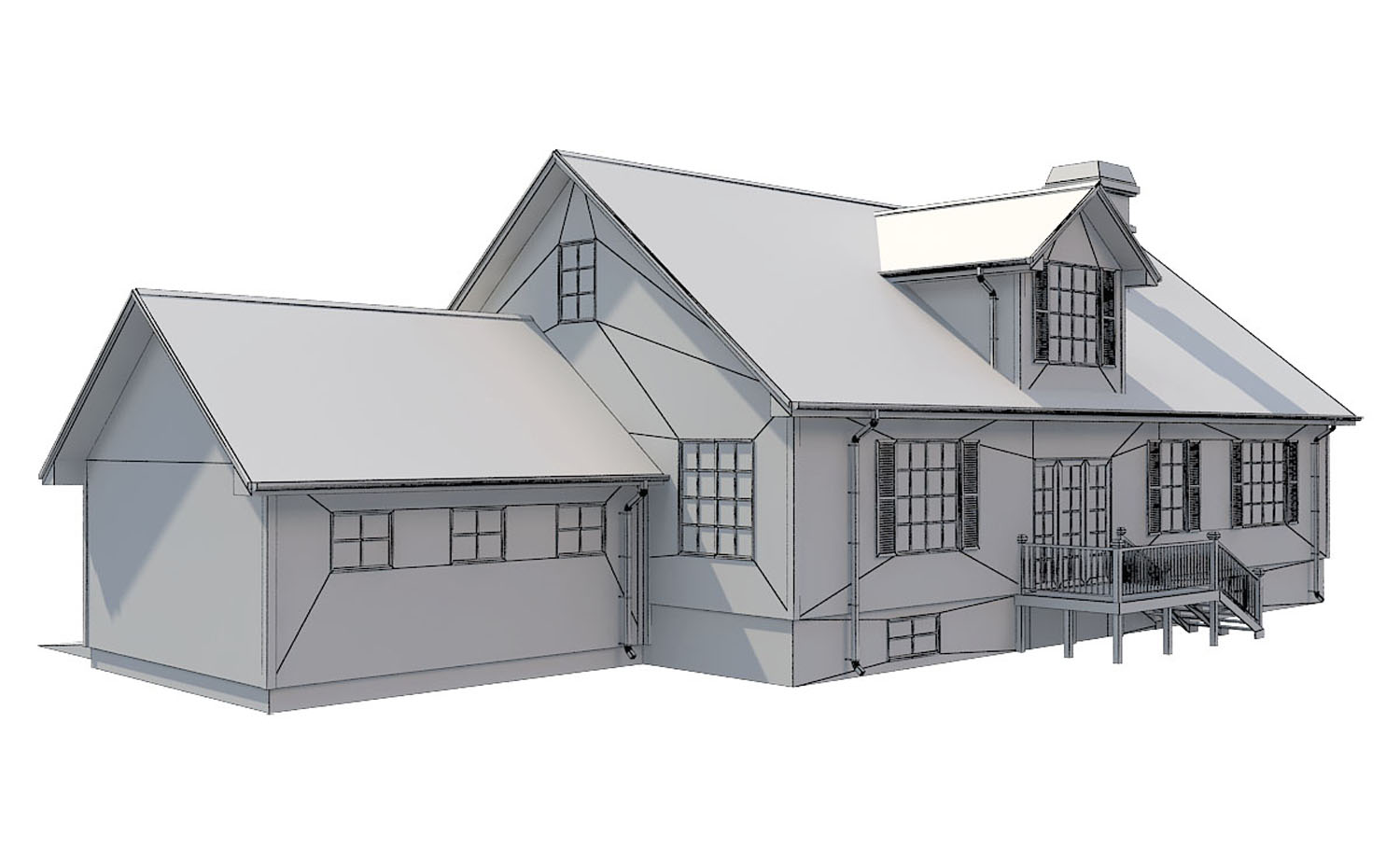 family house set collection 3d model 3ds max  fbx obj 270288