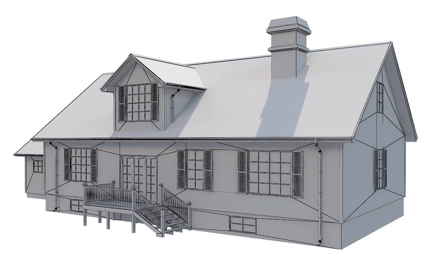 family house set collection 3d model 3ds max  fbx obj 270289