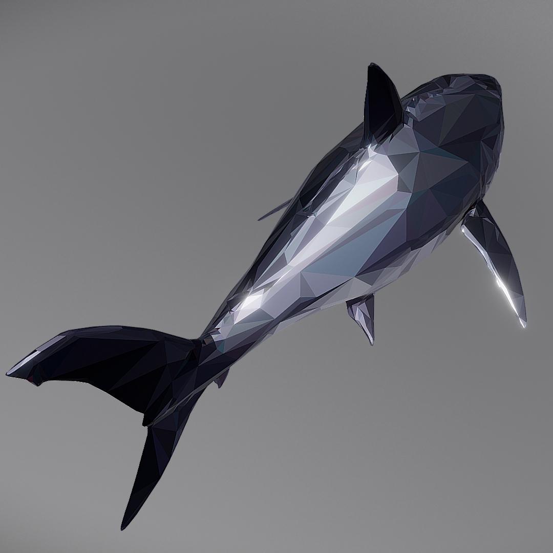 dark shark low polygon 3d model 3ds max fbx ma mb tga targa icb vda vst pix obj 270316