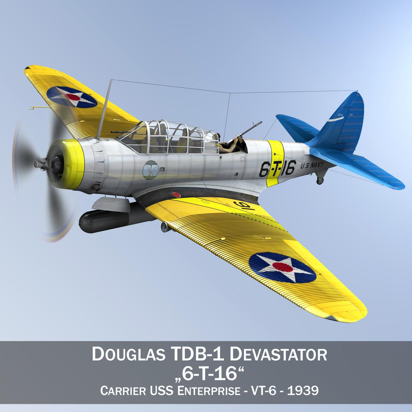 douglas tdb-1 devastator - 6t16 3d modelo 3ds fbx c4d lwo obj 270362