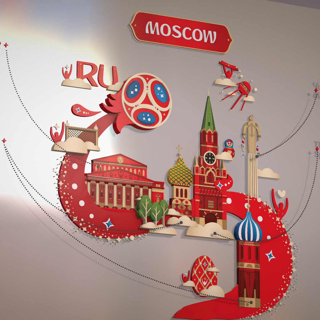 official world cup 2018 russia host city moscow 3d model 3ds max fbx jpeg jpg ma mb obj 270390