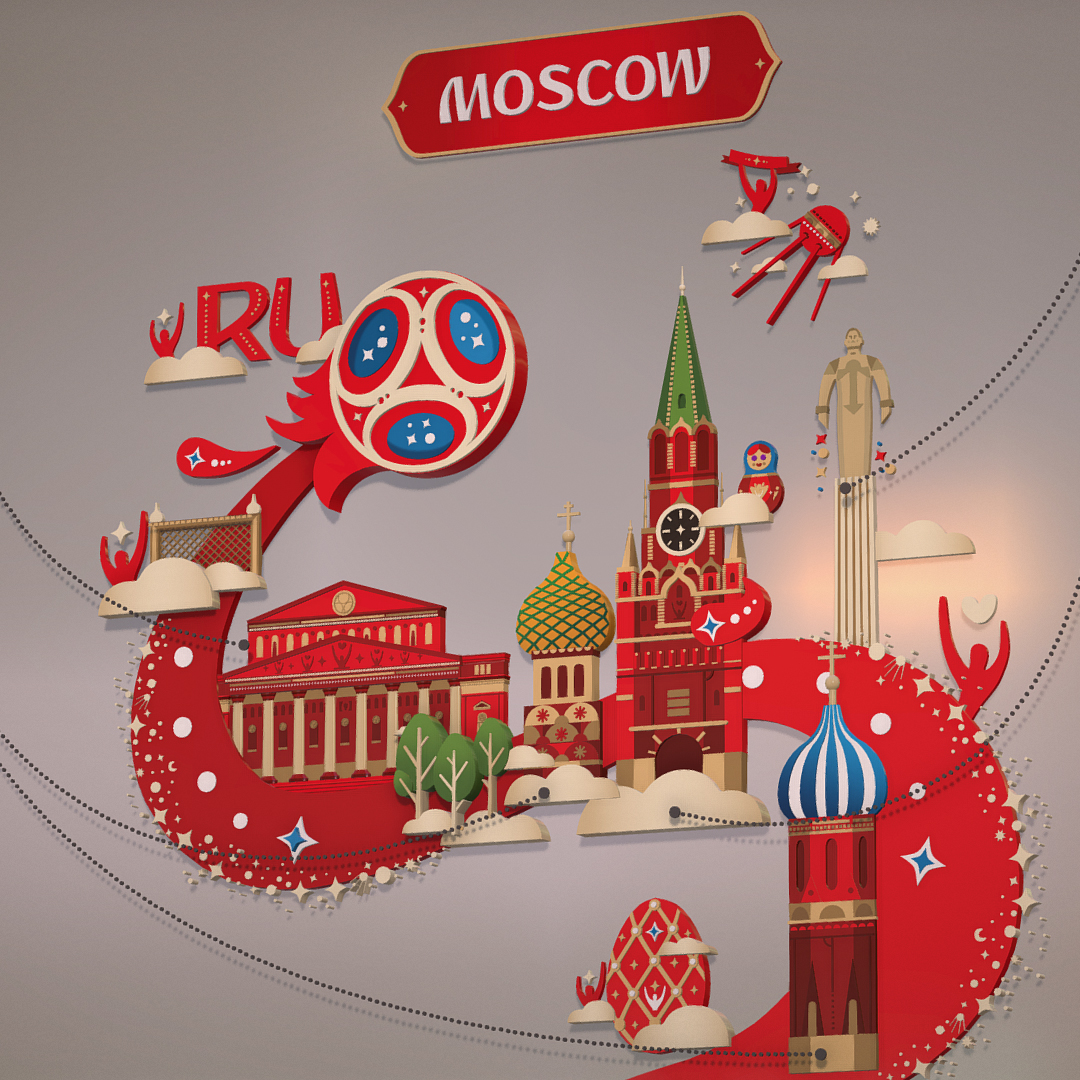 official world cup 2018 russia host city moscow 3d model 3ds max fbx jpeg jpg ma mb obj 270391