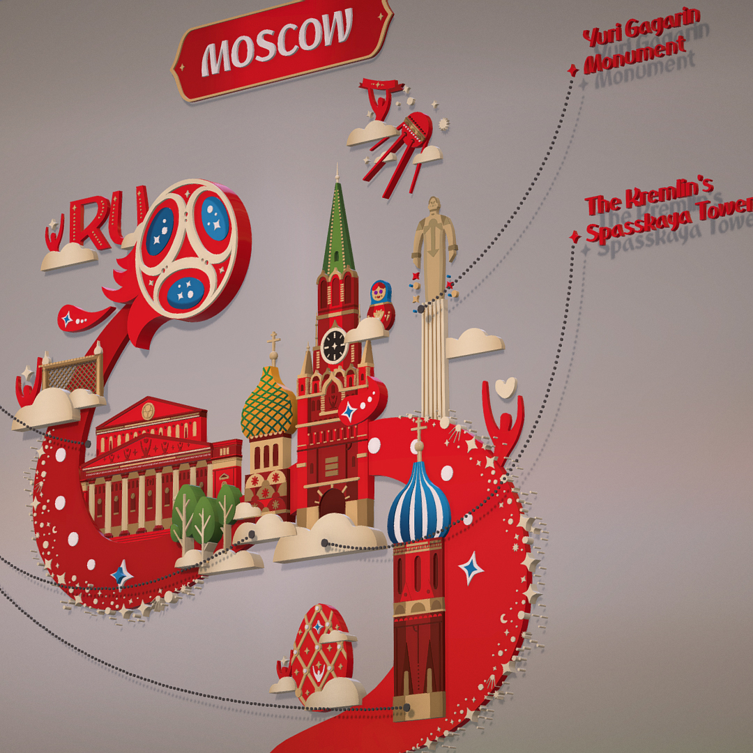 official world cup 2018 russia host city moscow 3d model 3ds max fbx jpeg jpg ma mb obj 270392