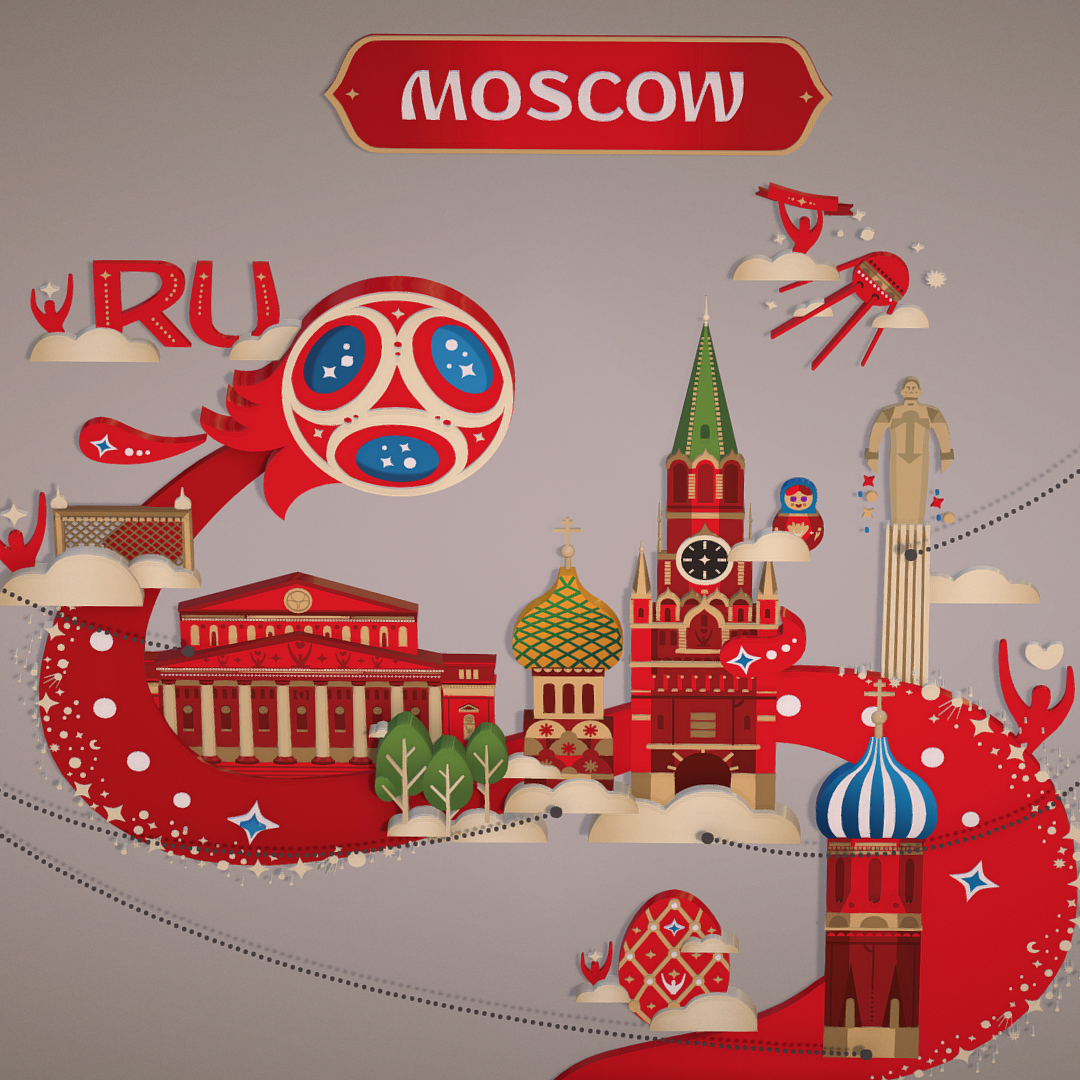 official world cup 2018 russia host city moscow 3d model 3ds max fbx jpeg jpg ma mb obj 270394