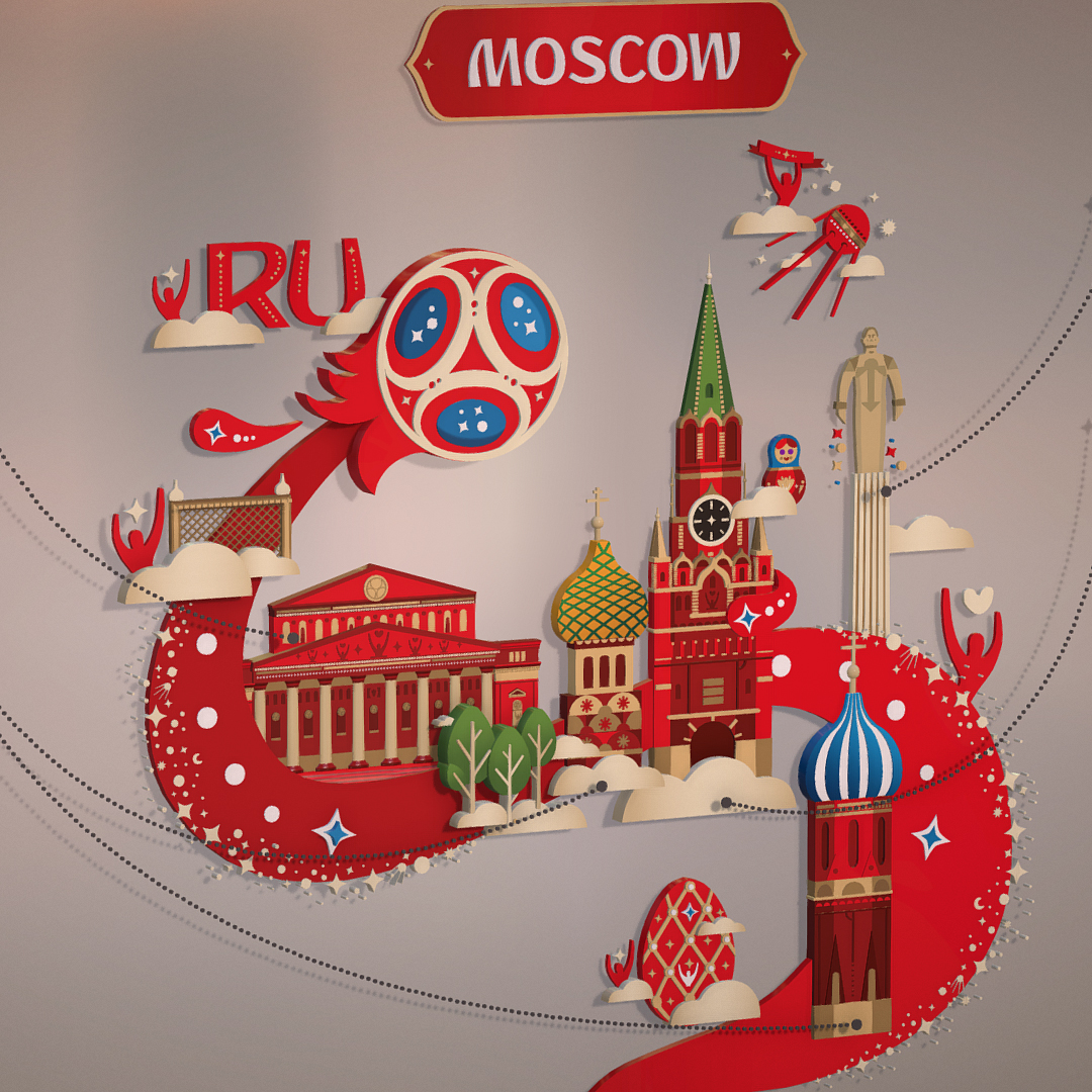 official world cup 2018 russia host city moscow 3d model 3ds max fbx jpeg jpg ma mb obj 270395