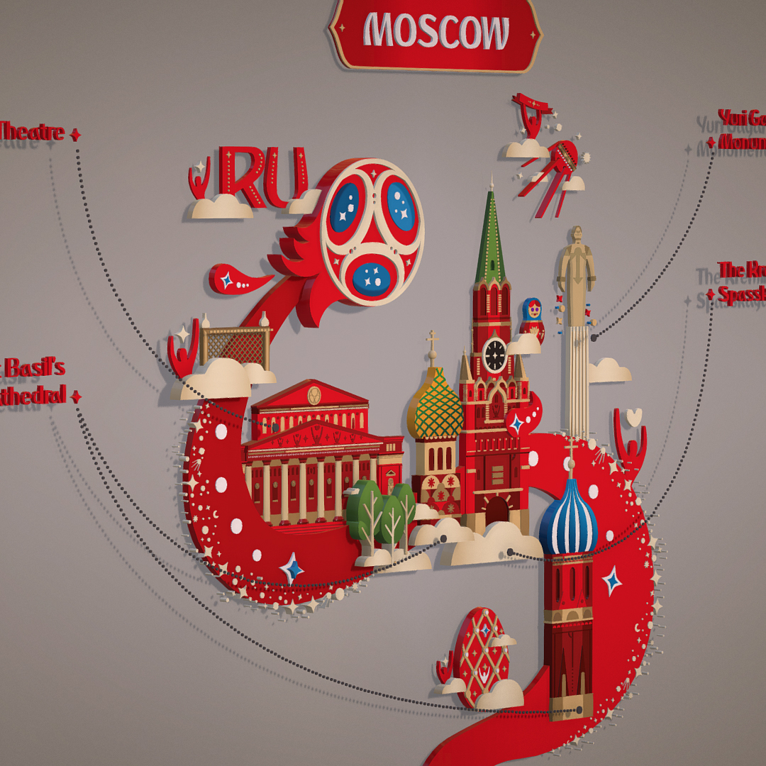 official world cup 2018 russia host city moscow 3d model 3ds max fbx jpeg jpg ma mb obj 270396