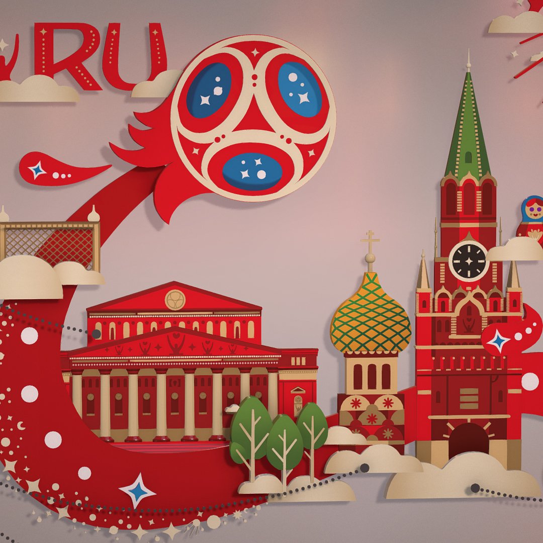 official world cup 2018 russia host city moscow 3d model 3ds max fbx jpeg jpg ma mb obj 270398