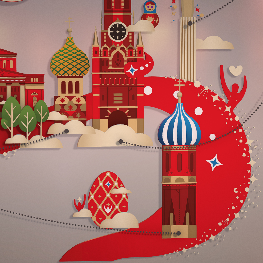 official world cup 2018 russia host city moscow 3d model 3ds max fbx jpeg jpg ma mb obj 270400
