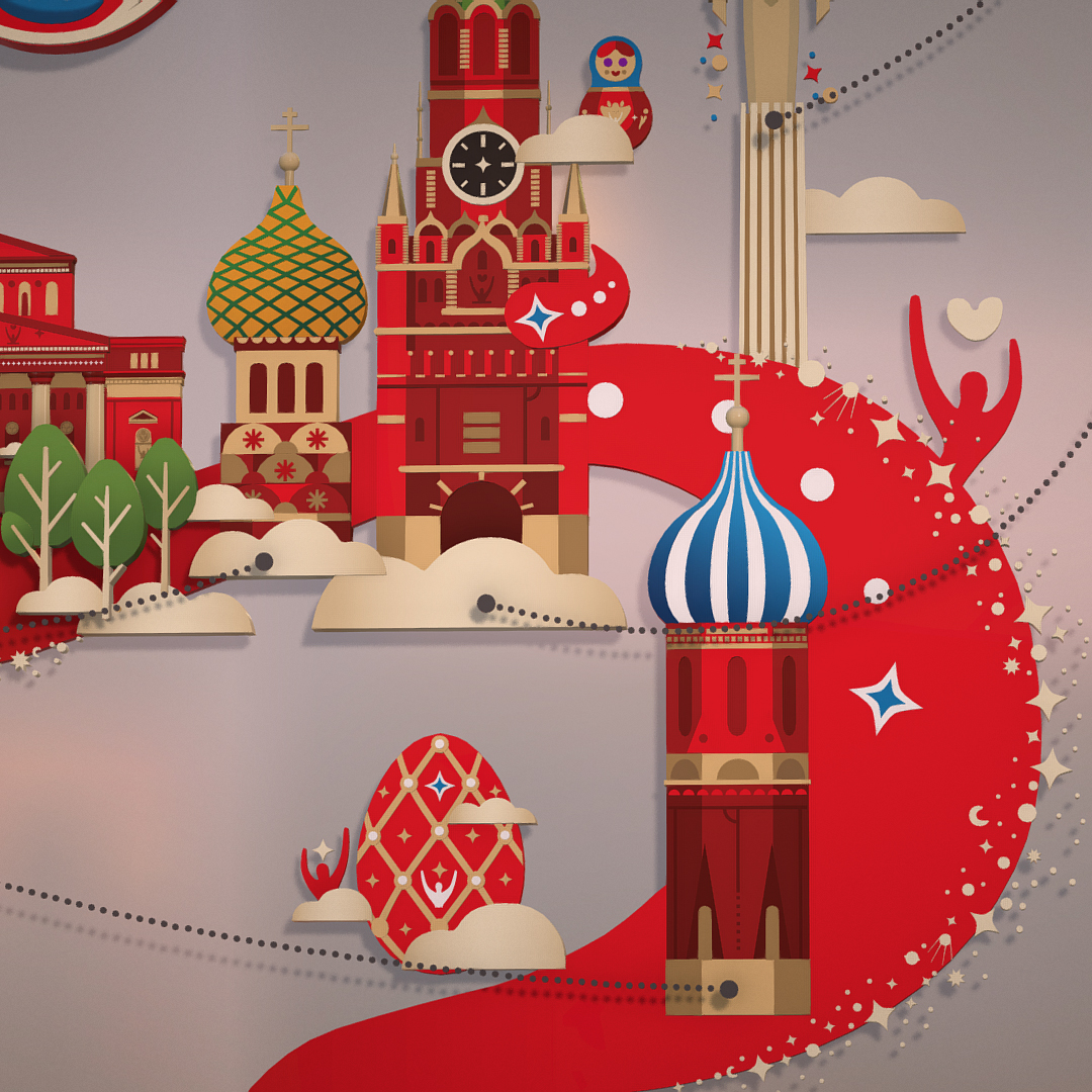 official world cup 2018 russia host city moscow 3d model 3ds max fbx jpeg jpg ma mb obj 270401
