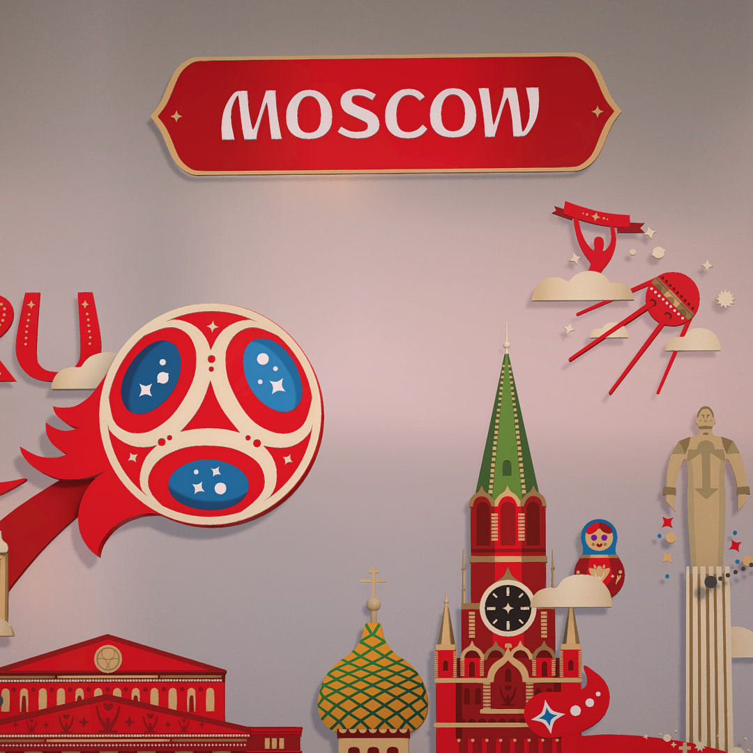 official world cup 2018 russia host city moscow 3d model 3ds max fbx jpeg jpg ma mb obj 270402