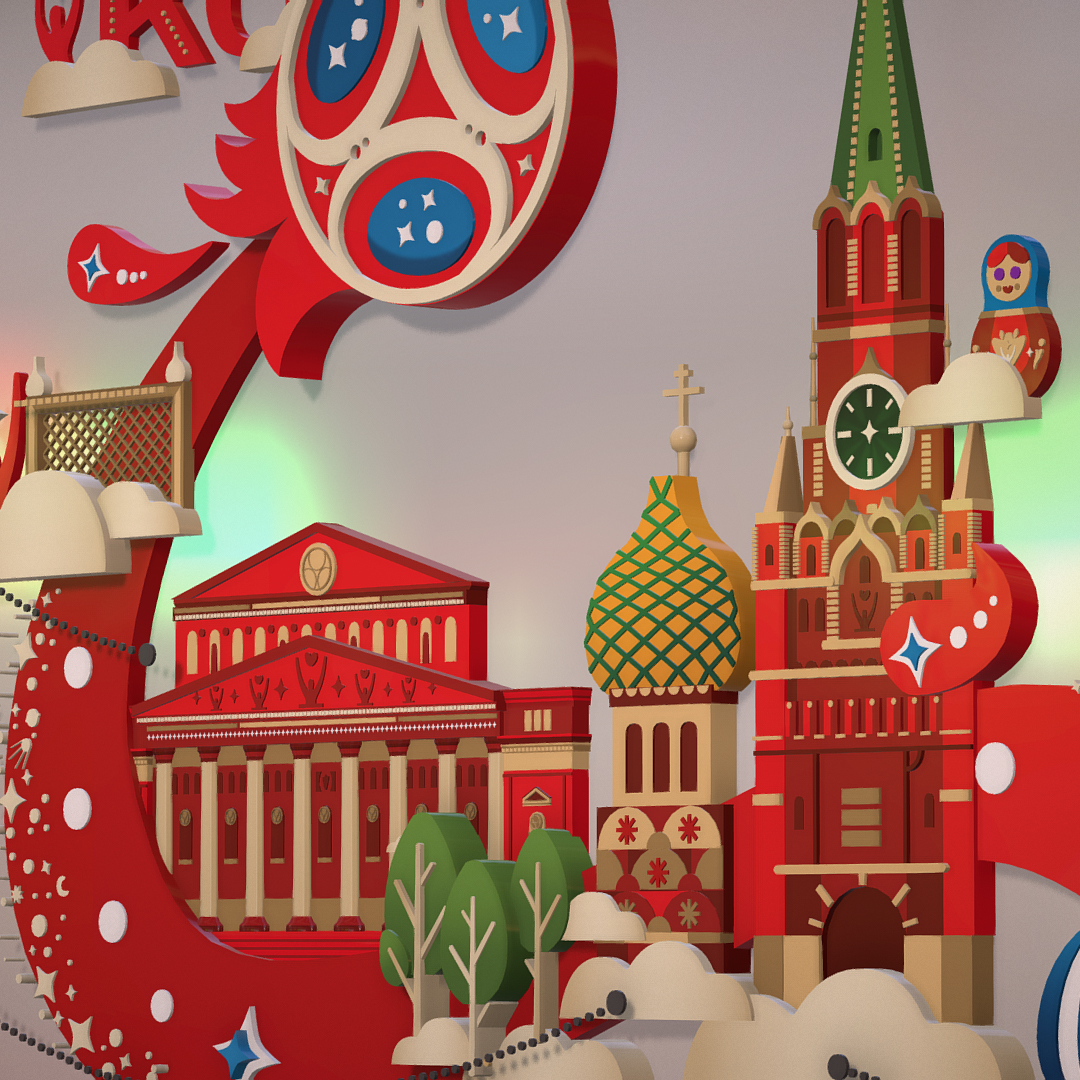 official world cup 2018 russia host city moscow 3d model 3ds max fbx jpeg jpg ma mb obj 270410
