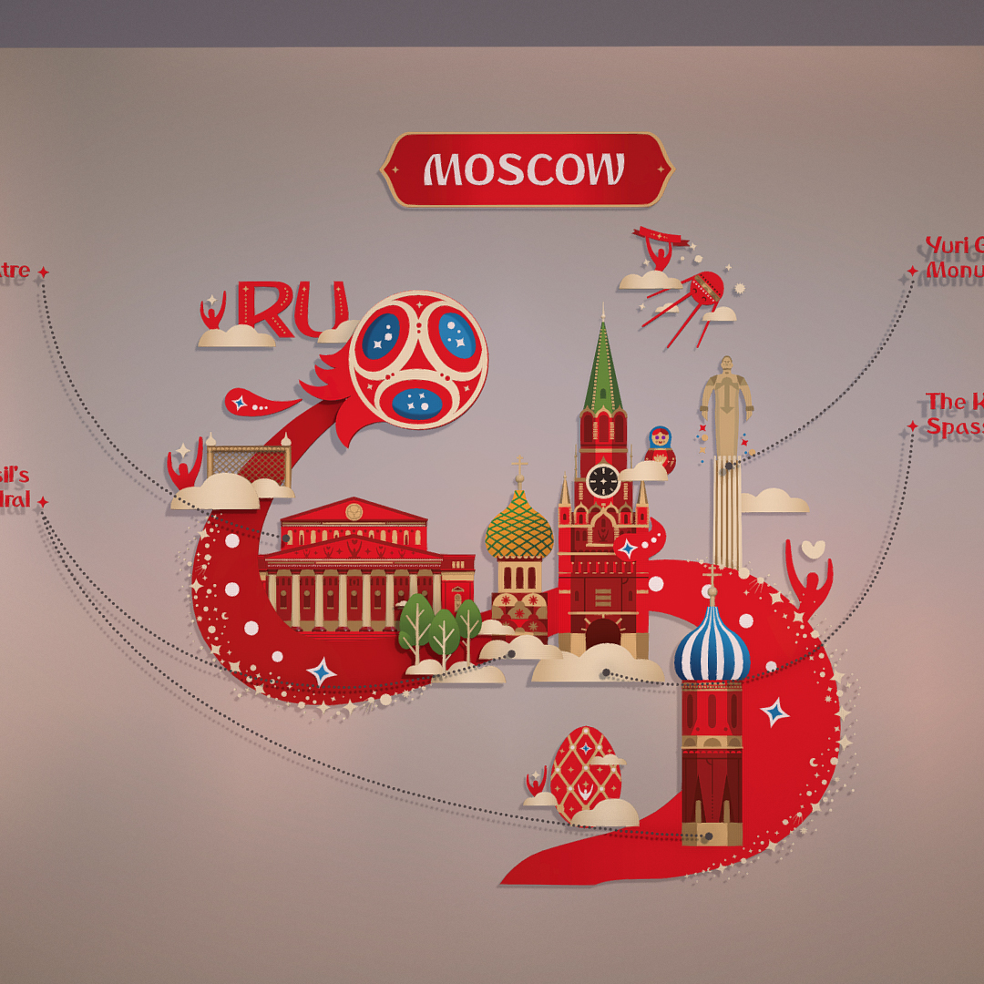 official world cup 2018 russia host city moscow 3d model 3ds max fbx jpeg jpg ma mb obj 270412