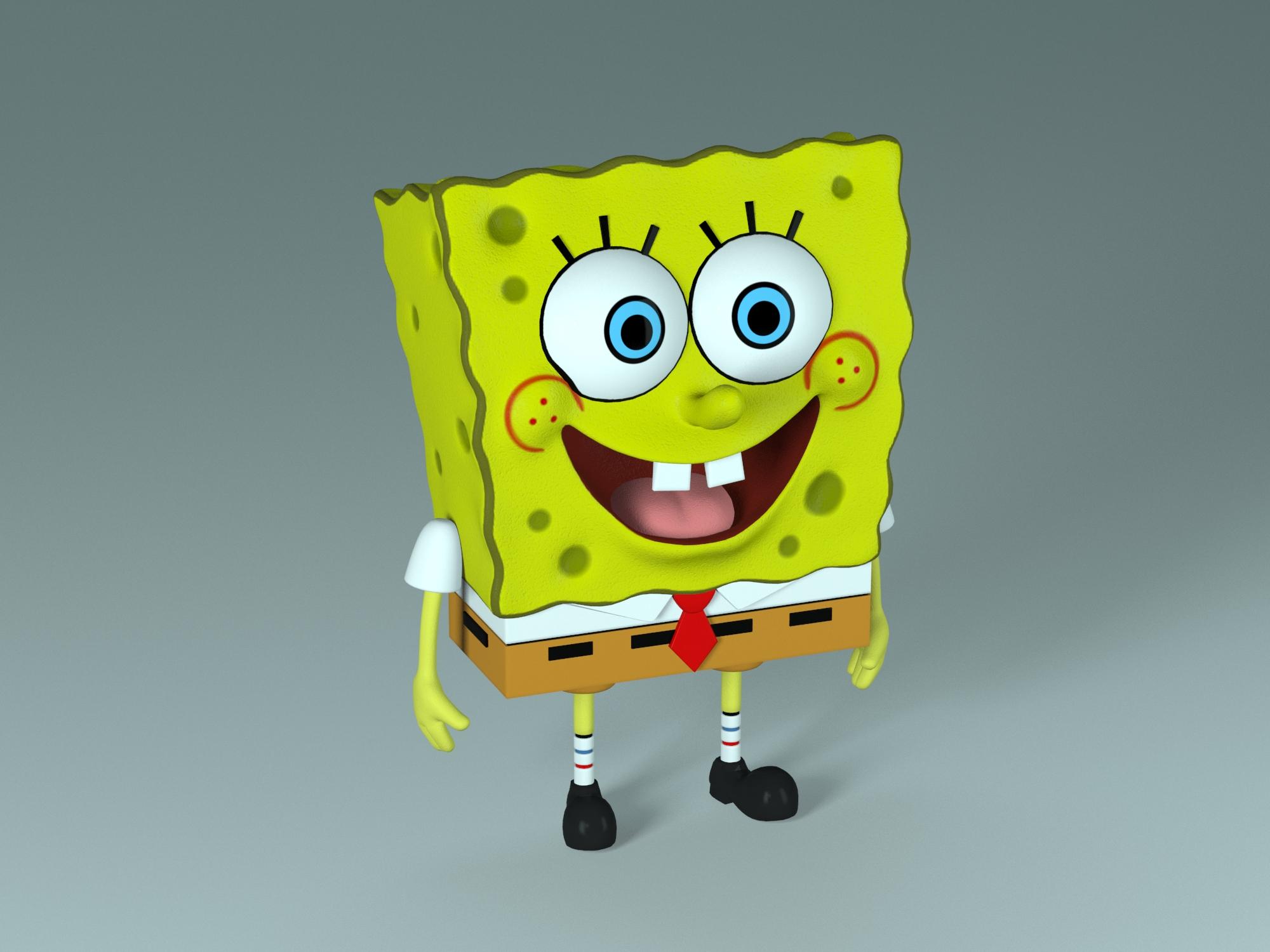 spongebob – bob esponja 3d model max fbx c4d lxo  texture obj 270432