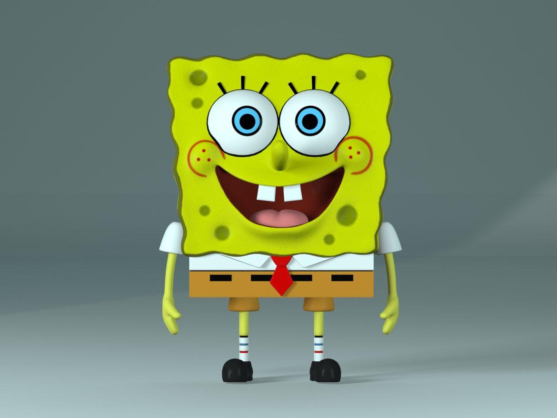 spongebob - bob esponja 3d modell max fbx c4d lxo textúra obj 270433