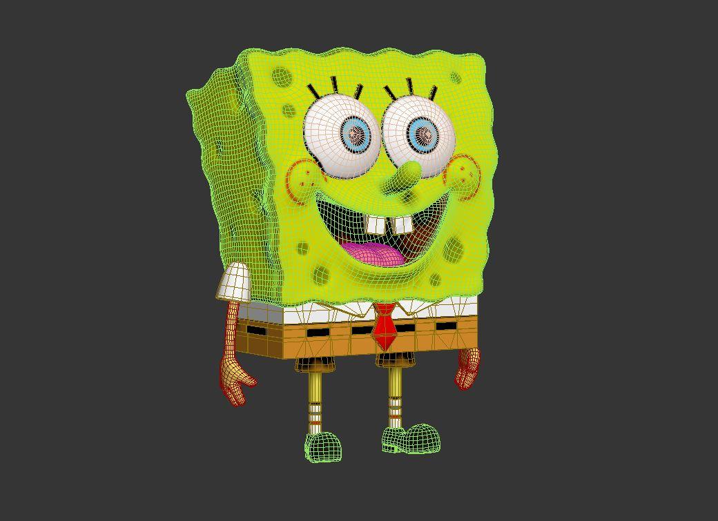 spongebob – bob esponja 3d model max fbx c4d lxo  texture obj 270437