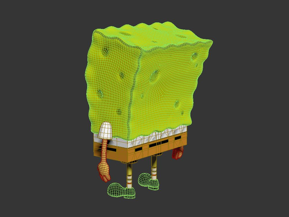 spongebob - bob esponja 3d modell max fbx c4d lxo textúra obj 270438