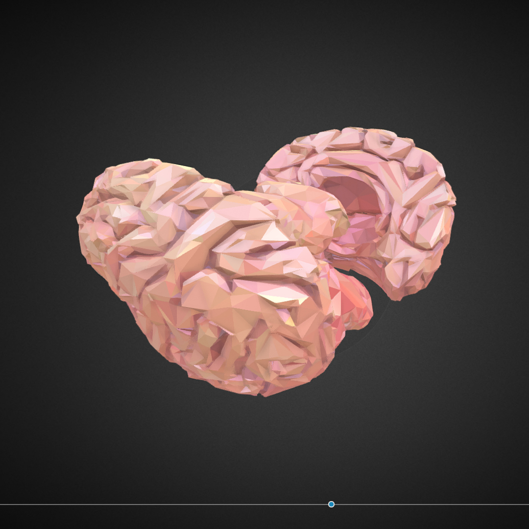 Low Polygon Art Medical Brain Real VR AR low-poly 3d model max 270548