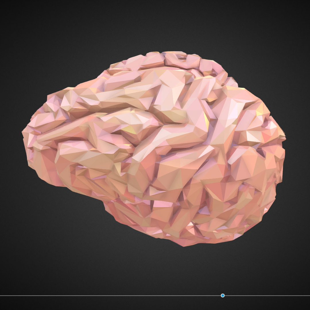 Low Polygon Art Medical Brain Real VR AR low-poly 3d model max 270549