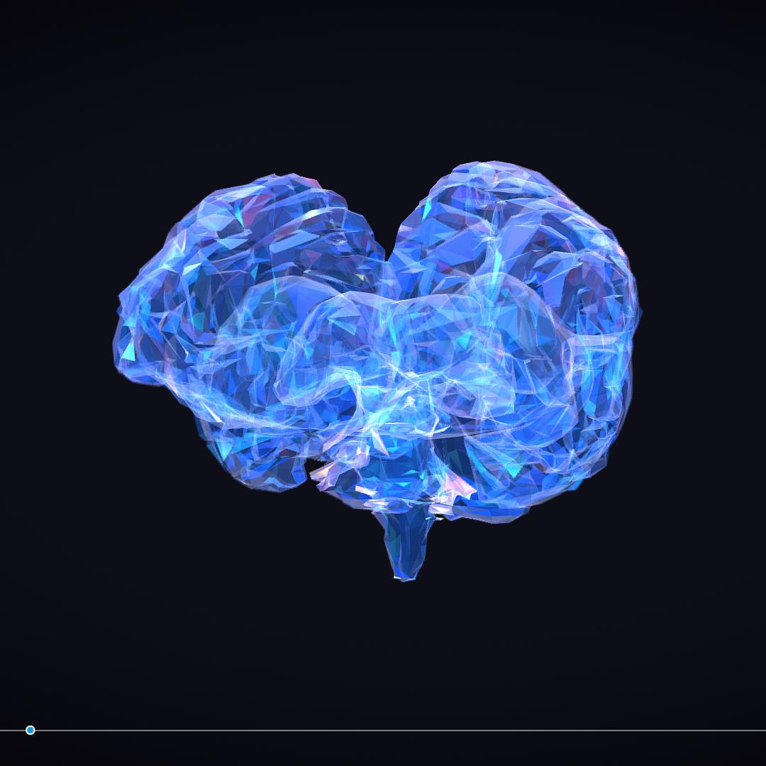 Low Polygon Art Medical Brain Roentgen 3d model 3ds 270584