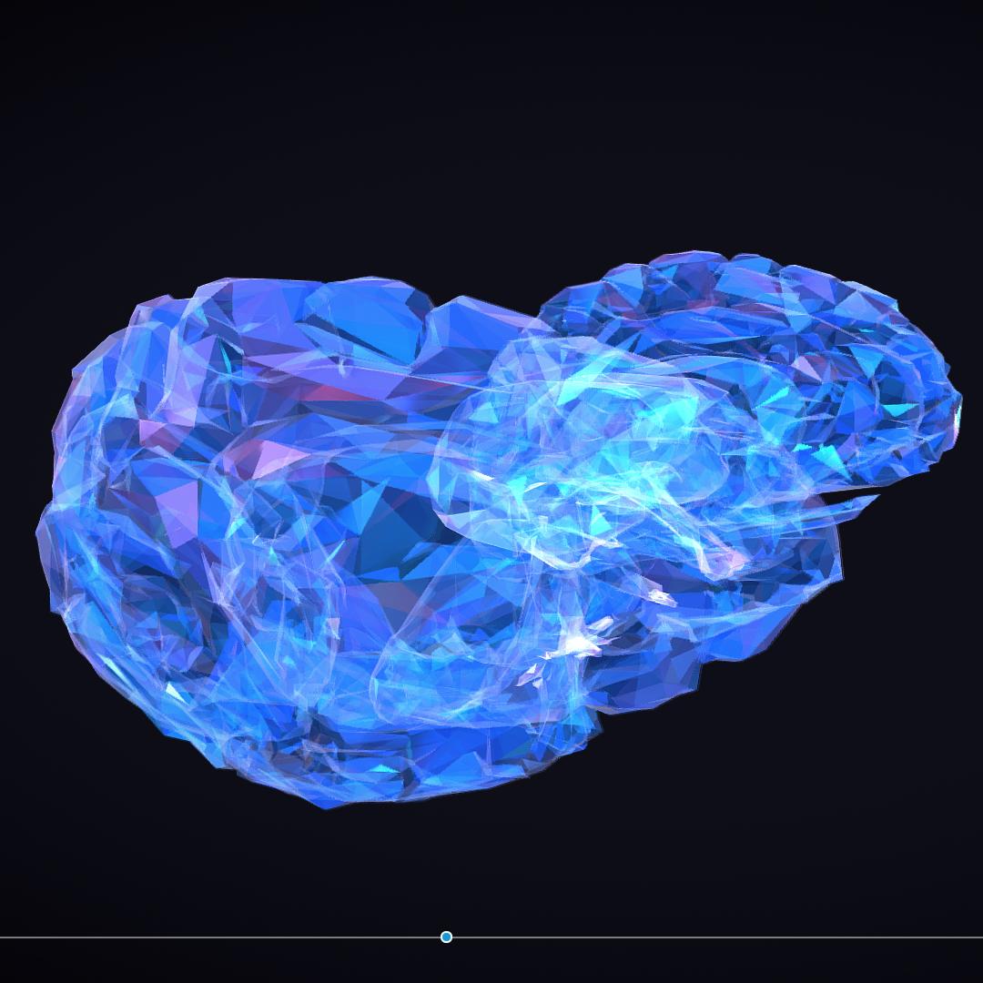 Low Polygon Art Medical Brain Roentgen 3d model 3ds 270588
