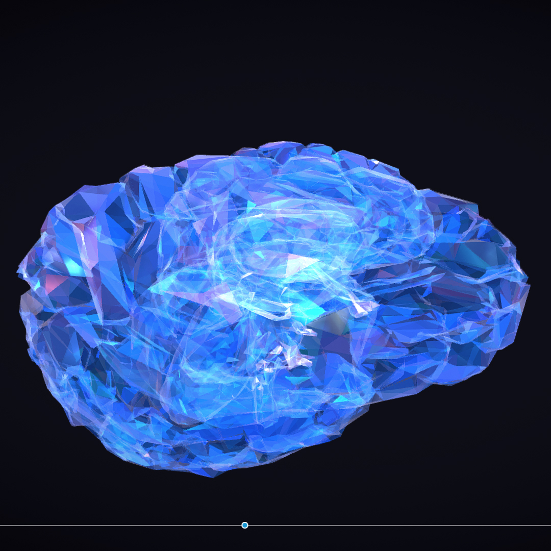 Low Polygon Art Medical Brain Roentgen 3d model 3ds 270589