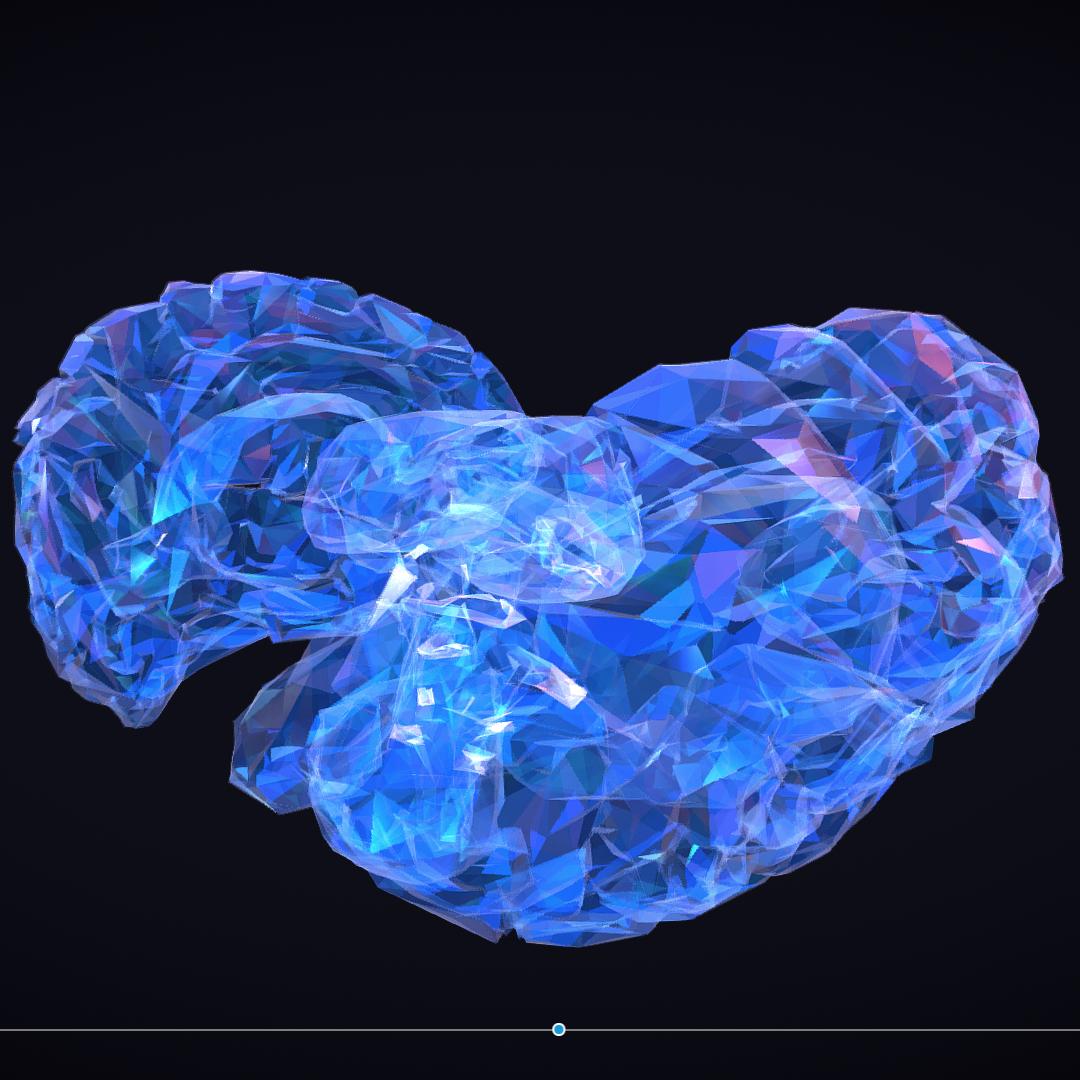 Low Polygon Art Medical Brain Roentgen 3d model 3ds 270591
