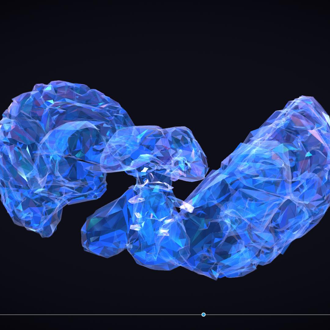 Low Polygon Art Medical Brain Roentgen 3d model 3ds 270592