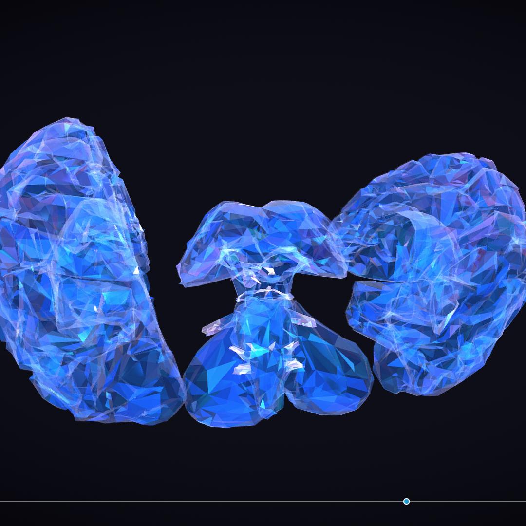 Low Polygon Art Medical Brain Roentgen 3d model 3ds 270594