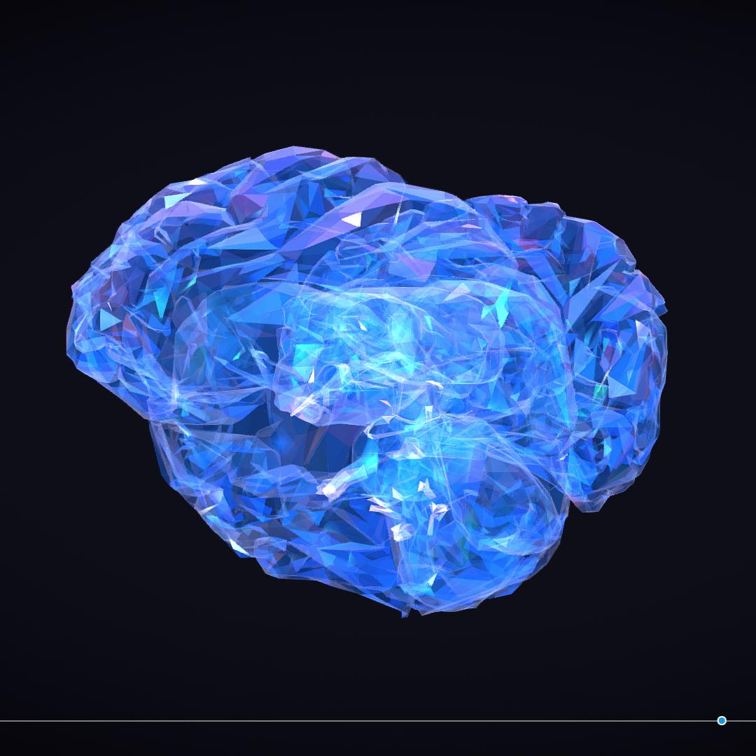 Low Polygon Art Medical Brain Roentgen 3d model 3ds 270596