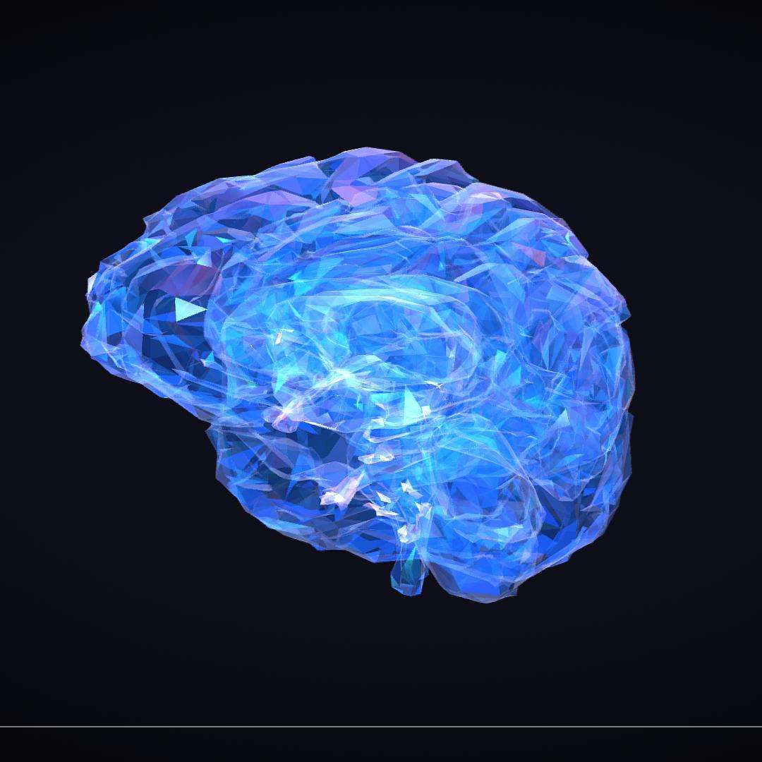 Low Polygon Art Medical Brain Roentgen 3d model 3ds 270597